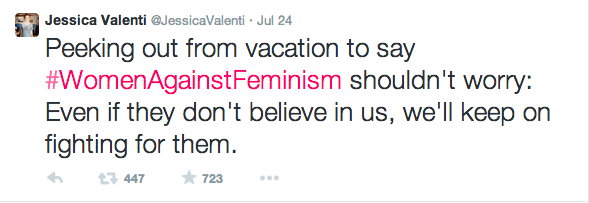 A post from feminist writer, Jessica Valenti