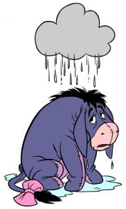 eyore personal raincloud