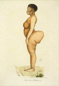 illustration fo baartman likened to kim kardashian