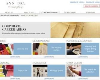 Ann Inc Careers screenshot