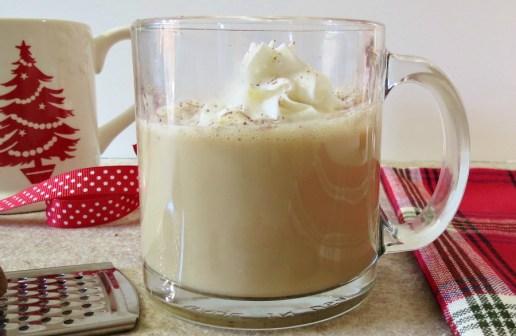 eggnog latte holiday drinks