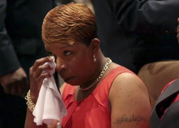 mike brown mother crying