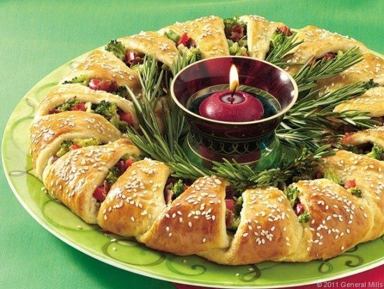 holiday wreath appetizers recipe