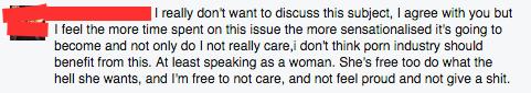 facebook comment about mia khalifa porn star
