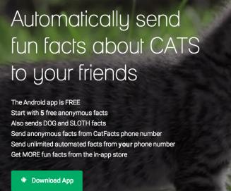 cat facts app prank