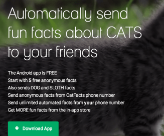 cat facts app prank