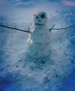 james joyce snowman built during a snow day
