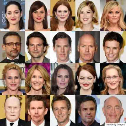 picture of oscar 2015 contenders to show lack of diversity
