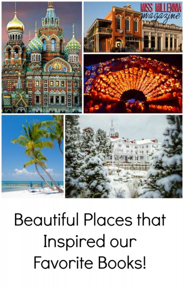 Beautiful Places that Inspired our Favorite Books Collage