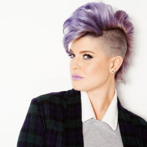 Kelly Osbourne with purple hair