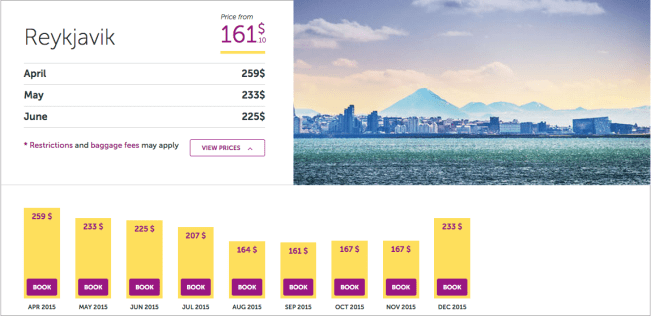 Airfare for the next few months with Wow air