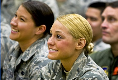 Female career army officers