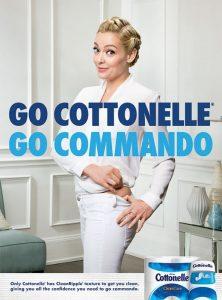 Go Cottonelle, go commando