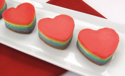 rainbow cheesecake hearts