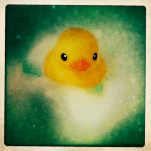 rubber ducky in bath