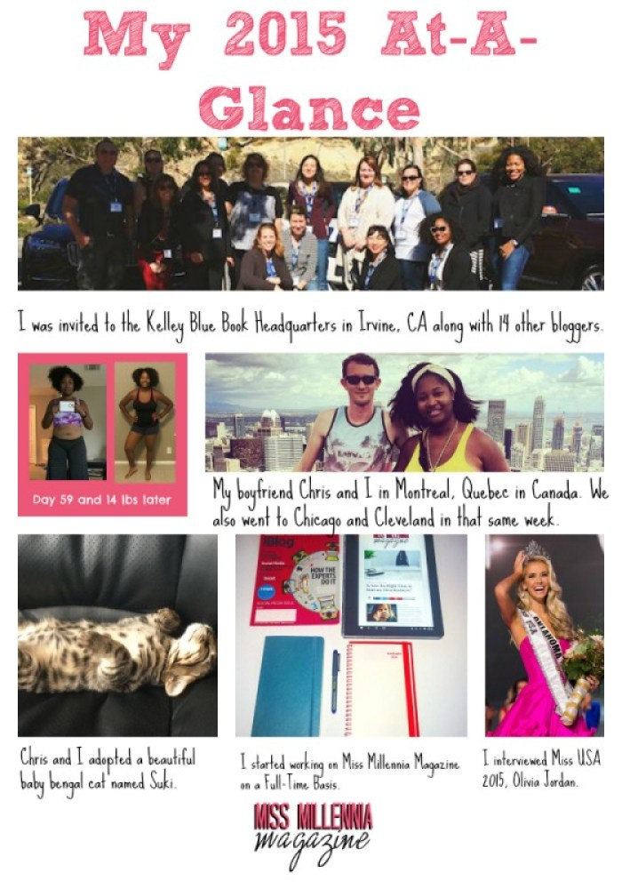 Jasmine's 2015 at a Glance
