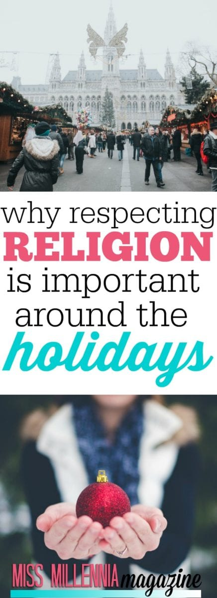 We are getting close to the Holidays, which means a lot of one-sided representation of Christmas. This year, be respectful for all.
