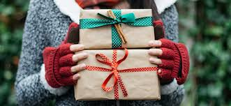 wrapped up presents for the holidays