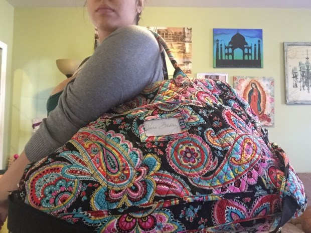 plenty of room to pack with my Vera bradley bag