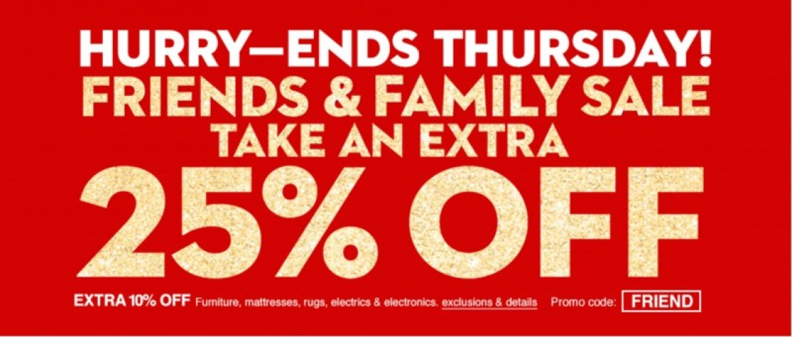 Macy's Friend's and Family sale