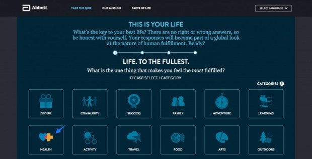 abbott life to its fullest quiz: I chose Health