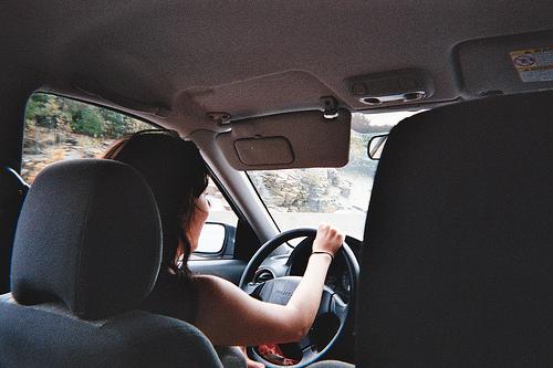 driving new car