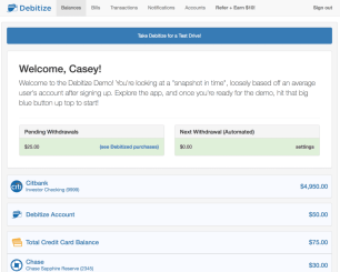 Managing your finances using Debitize is your next step to adulting.
