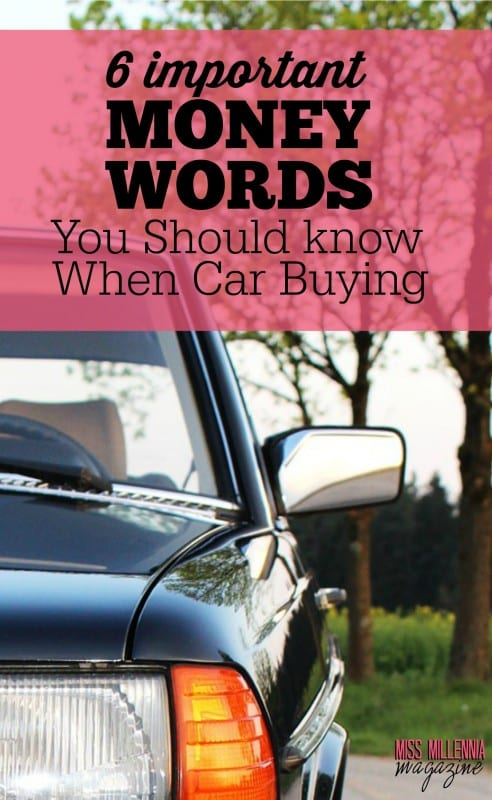 6 Important Money Words You Should know When Car Buying