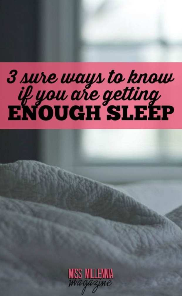 Are you getting enough shut-eye at night? We've got three ways to tell you if you're getting enough beauty sleep at night.