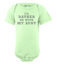 baby gift ideas: cool aunt onesie