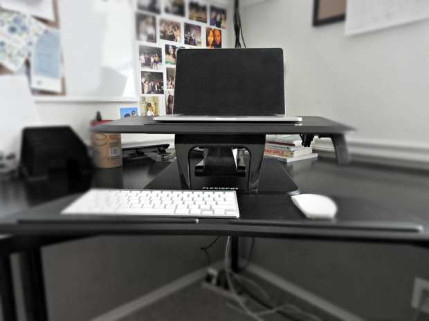 burn calories with a stand up desk