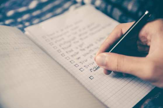 a healthy mind starts with a checklist for the day