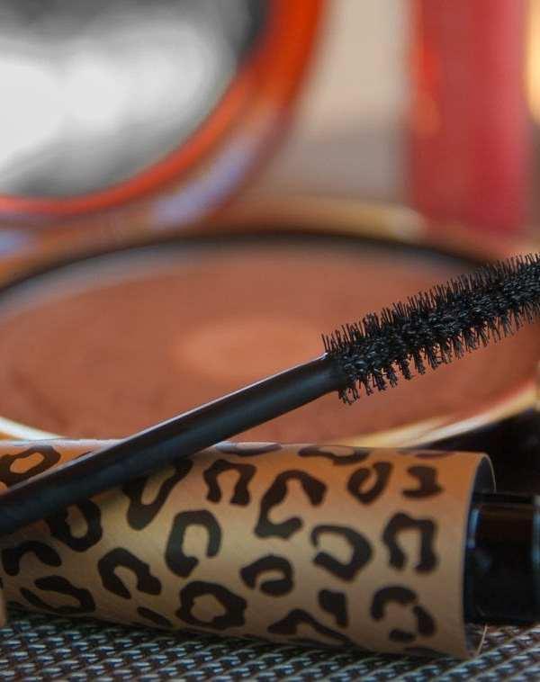 mascara and powder closeup