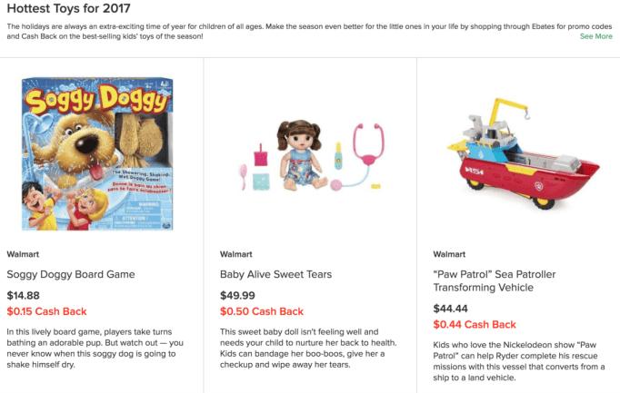 make money christmas shopping with Ebates
