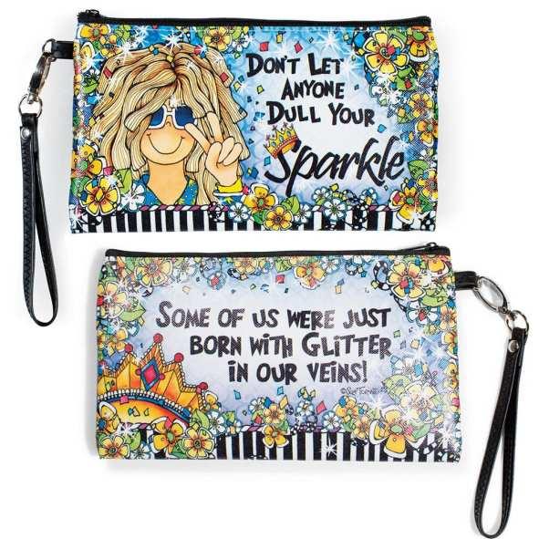 Suzy Toronto Zippered Sparkle Bag