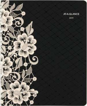 AT-A-GLANCE Lacey Premium Weekly-Monthly Appointment Book