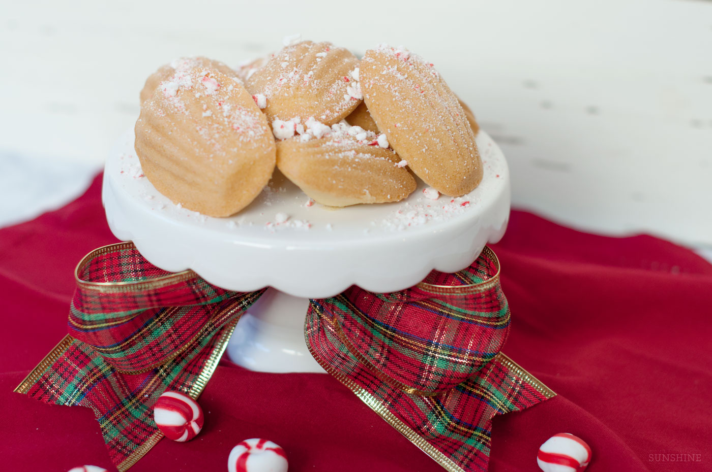 Peppermint Madeleines, Christmas Cookies