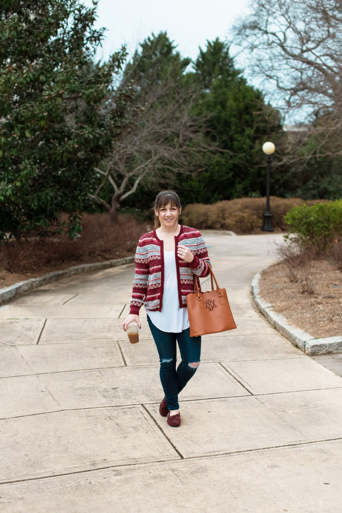 LOFT Sweater Jacket, American Eagle Denim, Marleylilly Tote