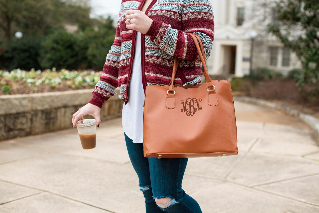 LOFT Sweater Jacket, American Eagle Denim, Marleylilly Tote