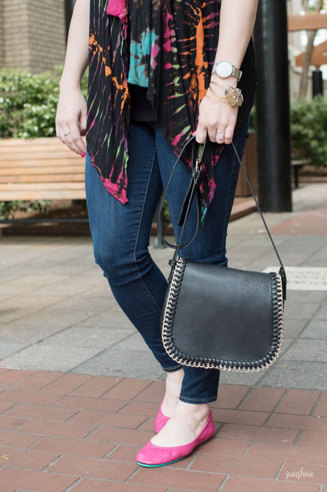 Tie Dyed Vest, Gap Denim, Urban Expressions Handbag