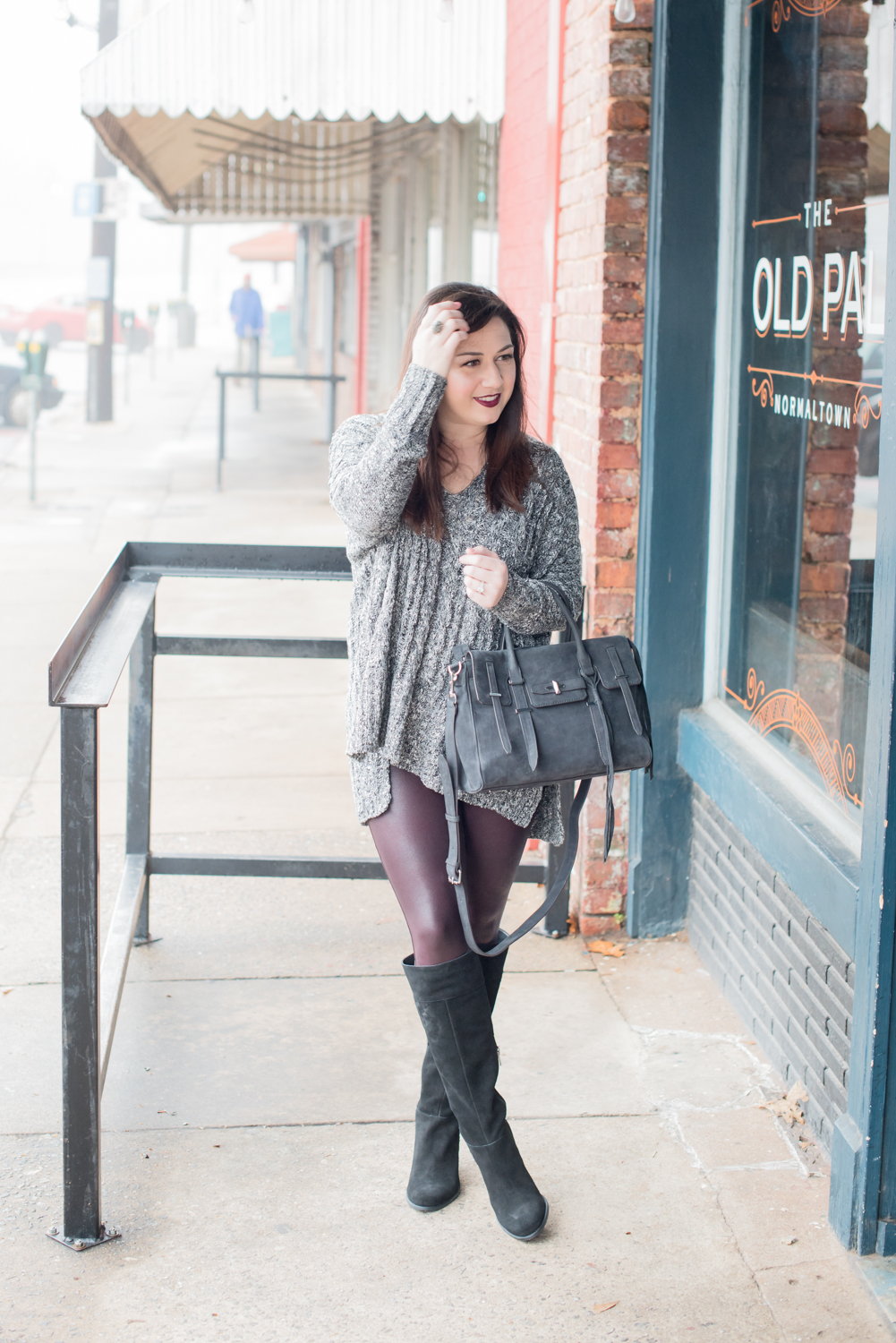 Three Tips for Styling Faux Leather Leggings