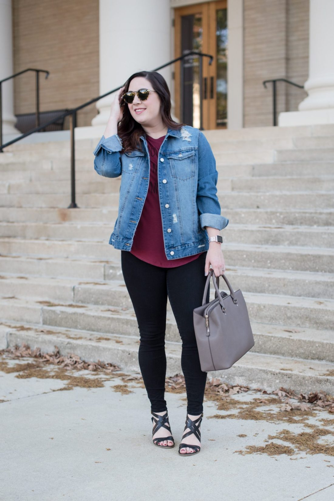 An Oversized Denim Jacket and a Graphic Tee via @missmollymoon