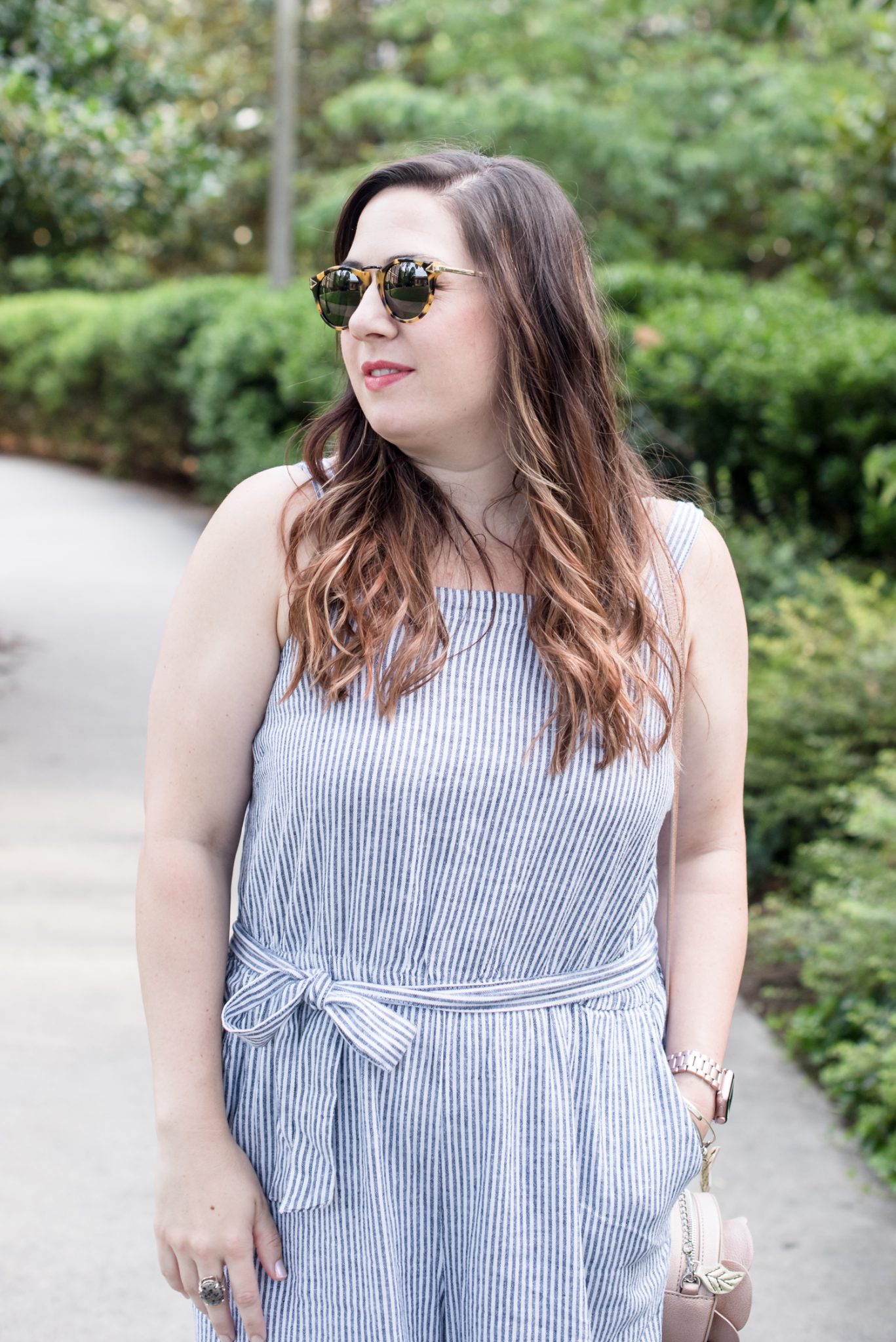 A Summer Seersucker Jumpsuit & Why I Share My Personal Style // @missmollymoon