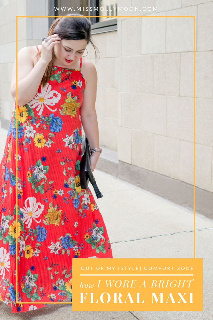 Stepping Out of My Comfort Zone in a Bright, Floral Maxi || Miss Molly Moon