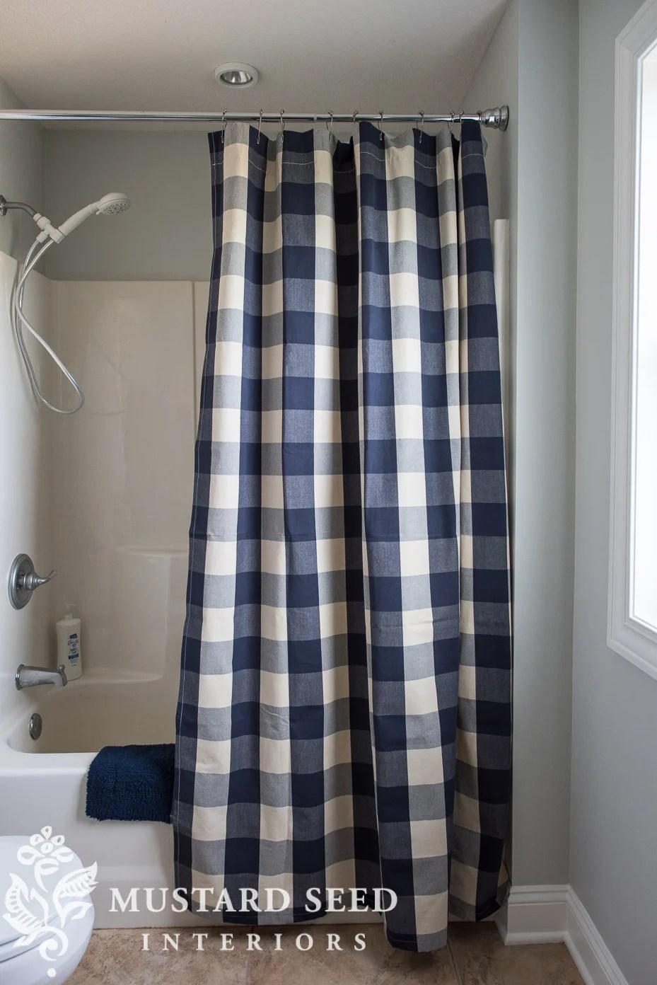 how to make a custom shower curtain