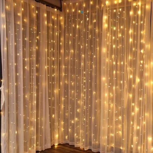 9.8ft x 9.8ft LED Curtain Lights