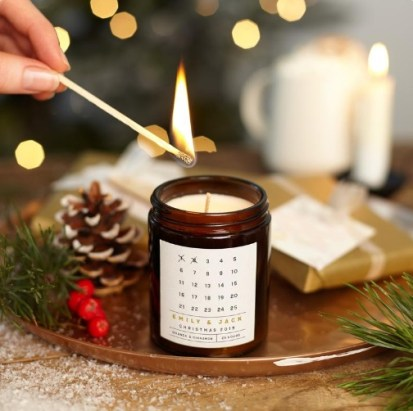 Advent Calendar Christmas Candle