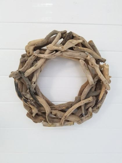 Beach summer wreath for front door decor