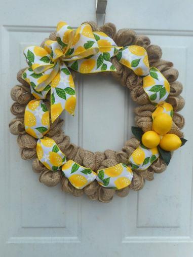 Burlap citrus wreath