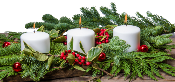 Christmas candles centerpiece ideas